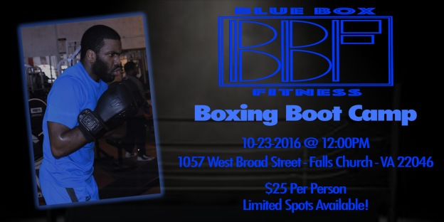 BBF Boxing Boot Camp - Eventbrite Flyer