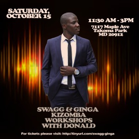 Kizomba Workshop with Donald - Eventbrite Flyer